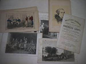 Sammlung von 36 Blättern zur Amerikanischen Revolution.