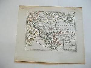 Carte de la Turquie d'Europe.: Griechenland, Türkei, Ungarn, Balkan, Adria
