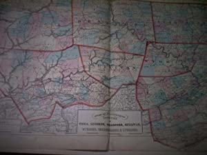 Tioga, Luzerne, Bradford, Sulivan, Wyoming, Susquehanna & Lycoming. Counties of Pennsylvania.