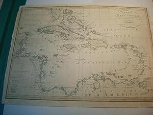 Charte von West Indien. Nach Edwards, De la Rochette und den neuesten Astronomischen Beobachtungen....