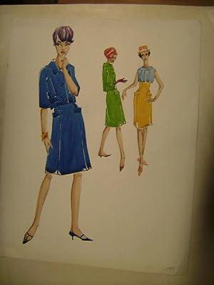 Originalentwurf zu Mode. Sommerkleidung für Frauen.: Heck, Otrud.