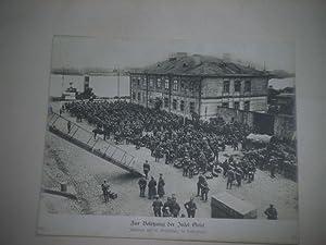 Zur Besetzung der Insel Oesel. Infanterie vor der Einschiffung im Heimathafen.: Pressefoto/ ...