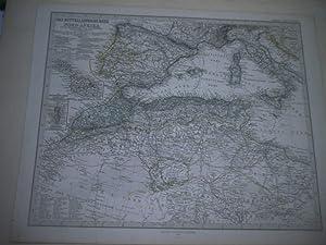 Das Mittelländische Meer und Nord-Afrika. (Westliches Blatt)