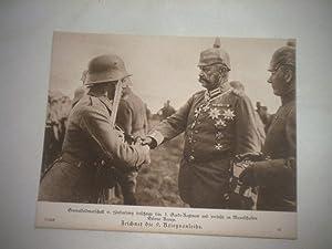 Generalfeldmarschall v. Hindenburg besichtigt sein 3. Garde-Regiment und verleiht an Mannschaften ...