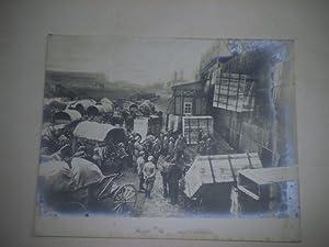 Zur Besetzung der Insel Oesel. Trainkolonne vor: Pressefoto/ Propagandafoto/Aushängefoto für