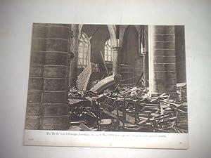 Die Kirche von Lisseweghe Zeebrügge, die am 8. Mai von englischen Fliegerbomben zerstört ...