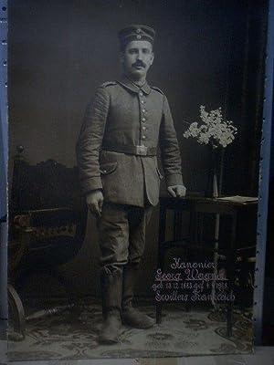 Große Originalfotographie eines Soldaten aus dem Ersten Weltkrieg.: Militaria. WKI.