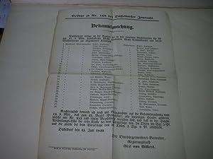 Bekanntmachung. Beilage zu Nr. 168 des Düsseldorfer Journals.