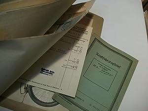Ordner mit versch. Schriftstücken zu einem NSU Kraftrad