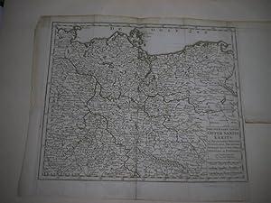 Nieuwe Kaart van de Opper Saxise Kreits of Keur Saxen, Meissen, Voigtland, Thuringe, Anhalt, ...
