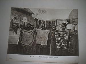 Aus Kamerun. Stickereischule des Njoja in Bamum.: Pressefoto/ Propagandafoto/Aushängefoto für die ...