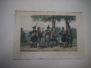 Russe, Spanier, Österreicher, Tyroler, Preusse, Braunschweiger.: Uniformen