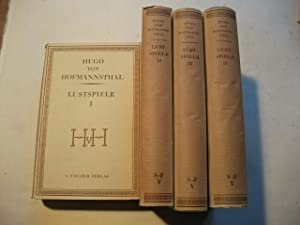 Lustspiele. 4 Bände.: Hofmannsthal, Hugo von