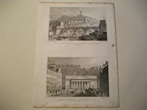 North Bridge, Calton Hill & c. from the Bank of Scotland u. Royal Institution, from Hanover ...
