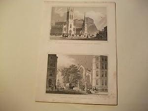 St. John's Chapel, St. Cuthbert's Church, and new baracks u. Catholic Chapel, from ...