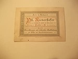 Werbekarte.: Visitenkarte