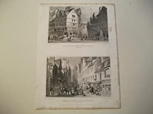 The West Bow, from the Lawn Market u. St. Mary's Wynd, from the Pleasance.: England, Edinburgh.