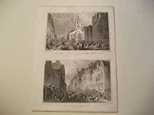 St. Gile's Church, County Hall, and Law Market, High St. u. The Canongate looking west.: ...
