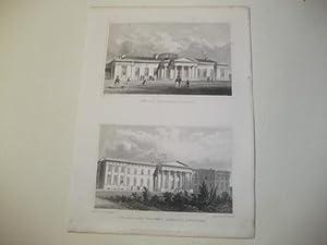 The new Edinburgh Academy u. The new John Watson's Sospital.: England, Edinburgh.