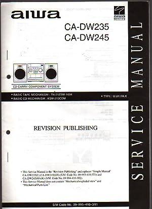Aiwa CD Carry Component System CA-DW235/245 Service: Aiwa Service