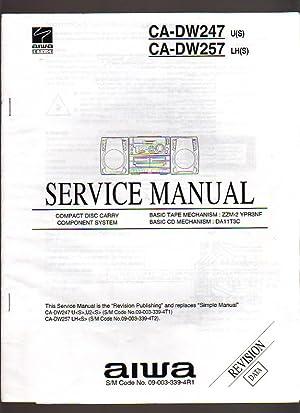 Aiwa CD Carry Component System CA-DW247/257 Service: Aiwa Service
