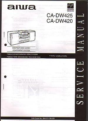 Aiwa CD Carry Component System CA-DW425/420 Boombox: Aiwa Service