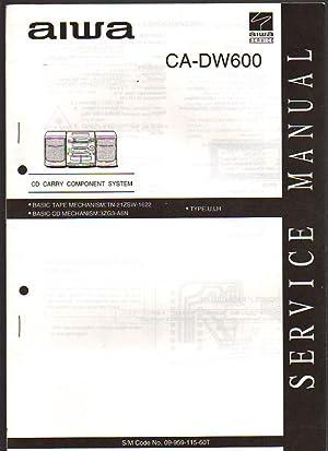 Aiwa CD Carry Component System CA-DW600 Boombox: Aiwa Service
