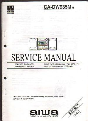 Aiwa CD Carry Component System CA-DW935M Boombox: Aiwa Service