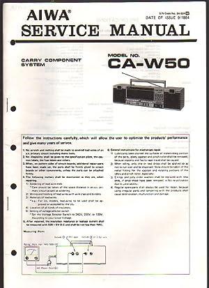 Aiwa Carry Component System CA-W50 Boombox Service: Aiwa Service