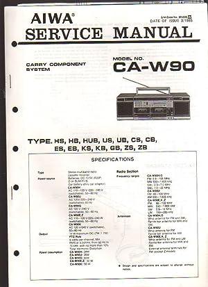 Aiwa Carry Component System CA-W90 Boombox Service: Aiwa Service