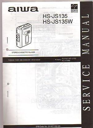 Aiwa Stereo Radio Cassette Player HS-J135/J135W Service Manual: Aiwa Service