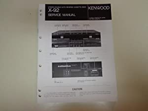 Kenwood X-92 Stereo Double Cassette Deck Factory: Kenwood