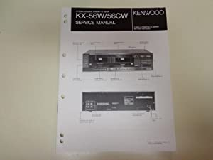 Kenwood KX-56W/56CW Stereo Double Cassette Deck Factory: Kenwood