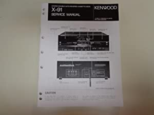 Kenwood X-91 Stereo Double Cassette Deck Factory: Kenwood