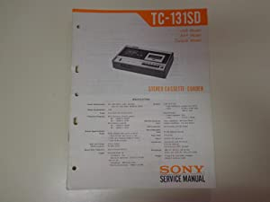 Sony TC-131SD Stereo Cassette-Corder Deck Factory Service Manual: Sony