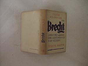 Stucke VIII. Stucke aus dem Exil: Brecht, Bertolt