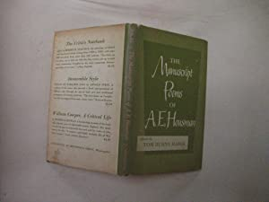 The Manuscript Poems of A. E. Housman: Haber, Tom Burns, Ed.
