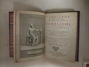 De Vita Pythagorica (The Life of Pythagoras): Jamblichi (Iamblichus)