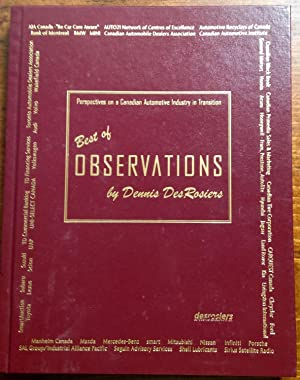 Best of Observations: Perspectives on a Canadian Automotive Industry in Transition (Signed Copy)
