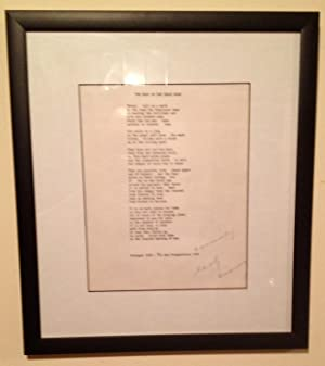 The Bear on the Delhi Road (Signed Broadside, Framed)