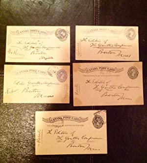 Five Postcards (Signed by Poet, Charles G.D. Roberts)