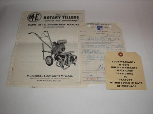 Rotary Tiller Parts Pyramid : Milwaukee rotary tillers parts list instruction manual