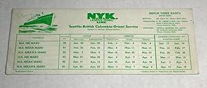 N.Y.K Japan Mail Line, 1930's Seattle-British Columbia-Orient: N.Y.K Japan Mail