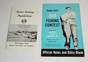 Tenax Felts 1958 Fishing Contest two fold: Lockport Felt Company