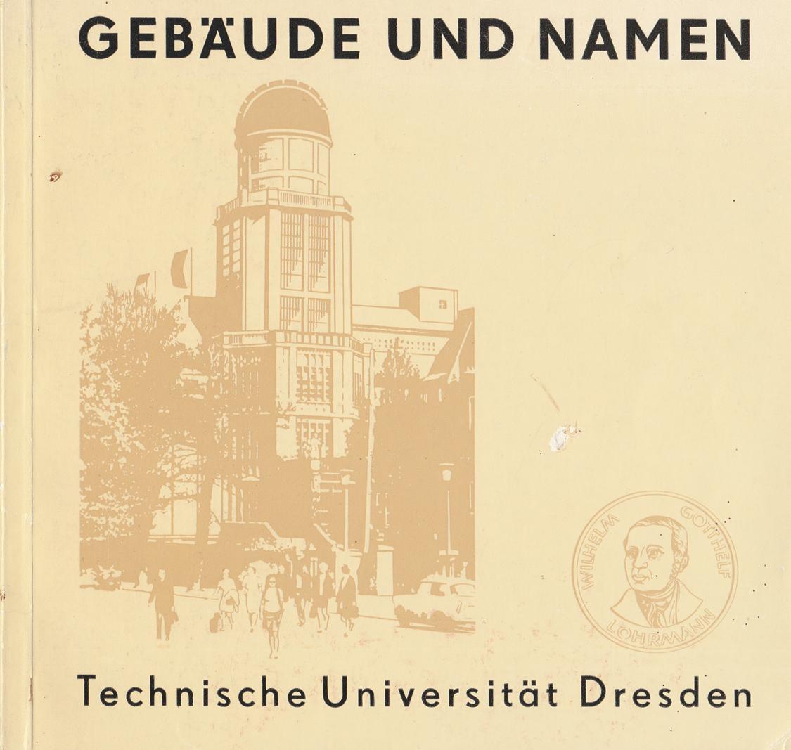 Gebäude und Namen Technische Universität Dresden.: Dr. phil. Werner