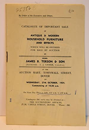 CATALOGUE OF IMPORTANT SALE OF ANTIQUE AND: FURNITURE AND HOUSE