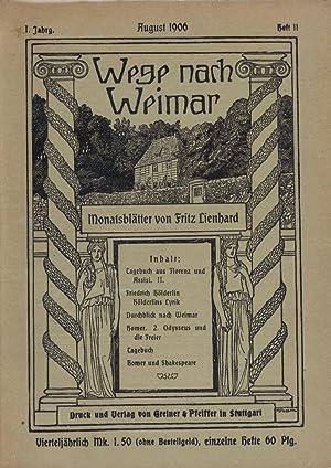Wege nach Weimar - Monatsblätter: Lienhard, Fritz