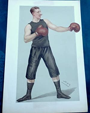 Boxing. Capt Edgeworth Johnstone. July 1896. Vanity Fair Lithograph by