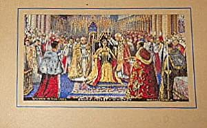 Queen Elizabeth II Coronation. Brocklehurst Embroidered Silk. 1953.