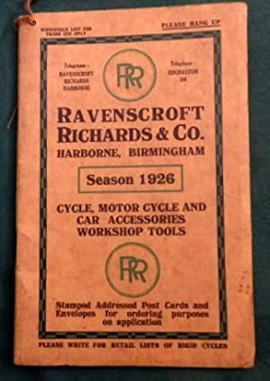 Cycle, Motor Cycle and Car Accessories & Workshop Tools Catalogue 1926